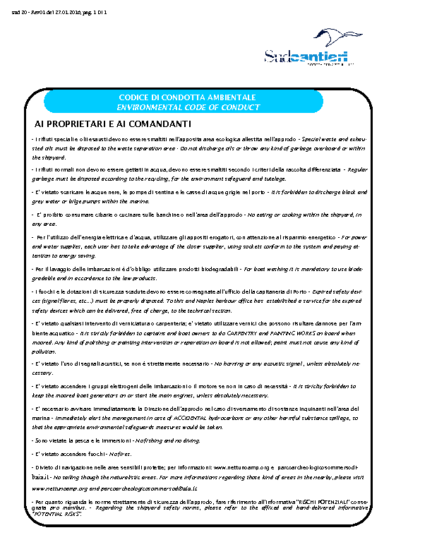 Codice condotta ambientale
