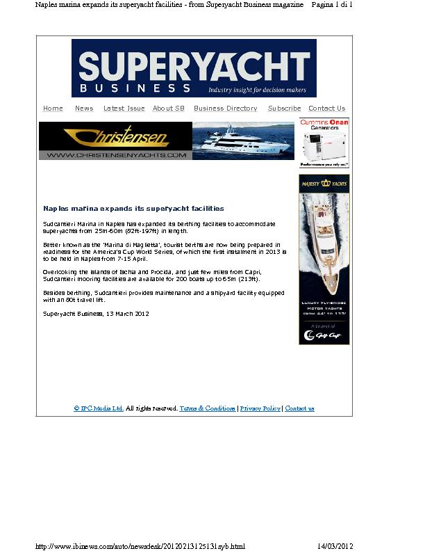 Superyacht 2012